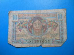 TERRITOIRES OCCUPES TRESOR FRANCAIS 10 Francs - Treasury