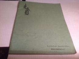 Cahier Institution Jeanne D Arc Remiremont Vosges écrit à L Intérieur Année 1916 1917 - Other Collections
