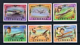 Liberia 1978 Luftfahrt /Flugzeuge Mi.Nr. 1047/52 B Kpl. Satz  ** - Liberia