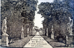 Vicenza. Palazzo Dalle Ore Quirini. Il Viale Principale Del Giardino (1917) - Vicenza