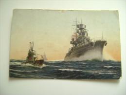 ARRUOLATEVI  PROPAGANDA  SHIP  REGIA  MARINA  MILITARE  WARSHIP  NON  VIAGGIATA  FORMATO PICCOLO FOTOGRAFICA - Guerre