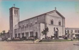 California Los Angeles St Paul's Church Handcolored Albertype
