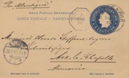 Argentina; Postal Card To Germany 1902 - Postal Stationery