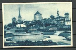 Estland Estonia Ca 1920 Ansichtskarte Tallinn Reval Tornide Väljak Parikas - Estonie