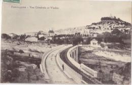 CPA - FORCALQUIER (04) - Vue Générale Et Viaduc - Forcalquier