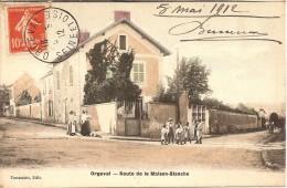 78 ORGEVAL ROUTE DE LA MAISON BLANCHE PREMIERE COLORISATION  Editeur TOUSSAINT - Orgeval