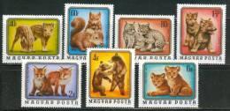 HUNGARY - 1976.Young Wild Animals Cpl.Set Mi:3098-3104. MNH!!! 4.00EUR - Ungarn
