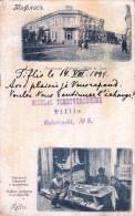 TIFLIS / TBILISI : HOTEL De LONDRES / TAILLEUR INDIGÈNE - CARTE POSTALE VOYAGÉE En 1899 - POSTCARD MAILED : 1899 (t-512) - Géorgie