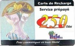 HAITI : Carte De Recharge : 250gdes (thin Card)   Exp :2003-03-31 - Haiti
