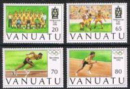 Vanuatu SG601-604 1992 Melanesian Football Cup And Olympics Set 4v Complete Unmounted Mint - Vanuatu (1980-...)