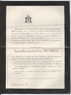 Weissenbruch Bernardine Nanine Décédée à Bruxelles 1882 - Décès