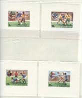 LIBERIA 8 Imperforated Blocks Mint Without Hinge - Coppa Del Mondo
