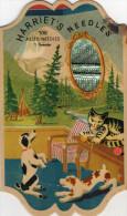 COUTURE-KIT PORTE-AIGUILLES  HARRIET'S NEEDLES  NEEDLES HOLDER  Chat Chiens Cat Dogs Années 1950 - Creative Hobbies