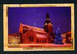 LATVIA  -  Riga Cathedral  Used Postcard As Scans - Latvia