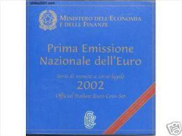 Italie 2002 : Coffret BU Des 8 Pièces 'Prima Emissione' - Italy