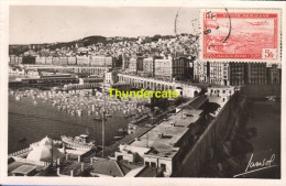 CARTE DE PHOTO ALGERIE CARTE MAXIMUM LANSOL 1951 POSTE AERIENNE MAXIMUM CARD ALGERIA ALGER VUE GENERALE - Lettres & Documents