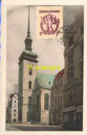 CARTE DE PHOTO CESKOSLOVENSKO CARTE MAXIMUM 1950 BRNO CHRAM SV JAKUBA - Czechoslovakia