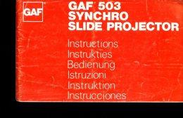 X GAF 503 Synchro Slide Projector Istruzioni Instructions Bedienung Instruktion Instrucciones - Fotografia