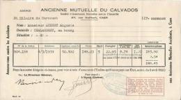 Document De L'Ancienne Mutuelle Du Calvados – Agence De Saint-Hilaire –du-Harcouët - Vieux Papiers