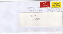 Datée  Du 01-12-15--NOUVELLE TOSHIBA Sur Lettre Avec Composition De Jolis Timbres Adhésifs - Marcophilie (Lettres)
