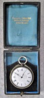 T33 / Montre Gousset à Clef Ancienne + Boite  - Florimont Lemaire Horloger Bijoutier à Courcelles - Montres Gousset