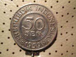 INDONESIA 50 Sen 1959   # 4 - Indonesia