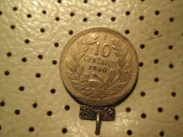 CHILE 10 Centavos 1940  # 4 - Chile