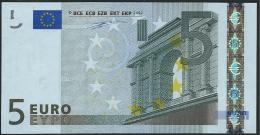 S ITALIA  5 EURO J001 F6  DUISENBERG   UNC - EURO