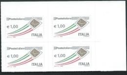 Italia 2015 ; Posta Italiana Da € 1,00 : Quartina Di Angolo Superiore Destro - 6. 1946-.. Repubblica