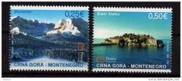 2006 122-23  MONTENEGRO  CRNA GORA  TURISMO DURMITOR SVETI STEFAN NEVER HINGED - Montenegro