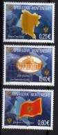2006  100-103 III C  MONTENEGRO  CRNA GORA  SIMBOLI FLAGS YEAR 2006 - PERFORATION 13 3-4  NEVER HINGED INTERESSANTE - Montenegro