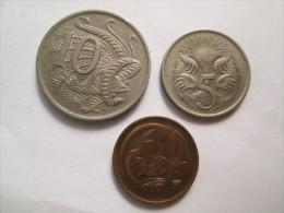 AUSTRALIA 3 Coins   # 4 - Decimal Coinage (1966-...)