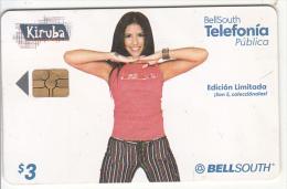ECUADOR(chip) - Girl, BellSouth Telecard, Chip GEM3.3, Exp.date 01/03/02, Used - Ecuador