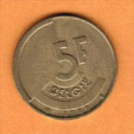 BELGIUM   5 FRANCS (DUTCH) 1986 (KM # 164) - 1951-1993: Baudouin I