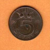 NETHERLANDS   5 CENTS 1963 (KM # 181) - [ 3] 1815-… : Kingdom Of The Netherlands