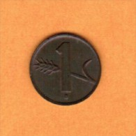 SWITZERLAND   1 RAPPEN 1949 (KM # 46) - Switzerland