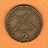 GREECE  2 DRACHMAI 1976 (KM # 117) - Greece
