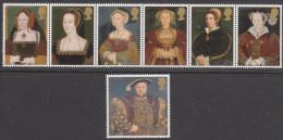 GREAT BRITAIN, 1997 THE TUDORS 7 MNH - 1952-.... (Elizabeth II)