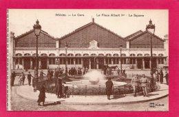 45 LOIRET ORLEANS, La Gare, La Place Albert 1°, Le Square, Animée, Militaires, (L. Lenormand, Orléans) - Orleans