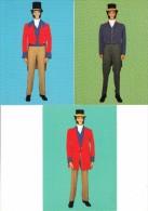 3 Postcards: UNIFORM Of POST LETTER CARRIER - England - Post