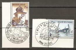 COB  1537/1538  (o) Oblitération De 1er Jour   (Lot 651) - België