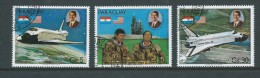 Paraguay 1981 Reagan Space Airmail Set Of 3 Singles VFU - Paraguay
