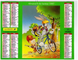 Calendrier Almanach Ptt 1997 Looney Tunes Bugs Bunny Titi Et Grosminet - Calendriers