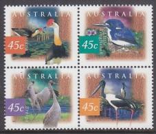 AUSTRALIA, 1997 WETLAND BIRDS BLOCK 4 MNH - 1990-99 Elizabeth II