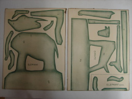 Découpis. 4. Eléphant Et Girafe à Découper De Deux Cartons Format A4 - Tiere