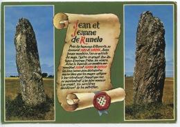 Belle Ile En Mer : Les Menhirs Jean Et Jeanne De Runelo (ed Artaud Neuve)parchemin Histoire - Belle Ile En Mer