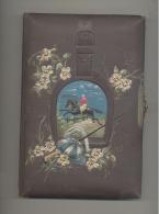 Très Joli Livre De Poésie De 1897 - Cavalier - Couverture Toilée En Relief Et  Fermeture Métallique (Heg) - Poésie