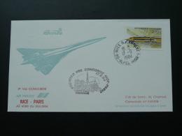 First Flight Cover Concorde Nice Paris 17 Sep 1984 FFC 62130 - Concorde