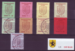 751 - BERINGEN (SH) - Fiskalmarken Serie - Fiscaux