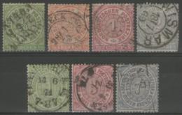 ALLEMAGNE/Conf.de L´Allemagne Du Nord: N°13/16+18+20+21 Oblitérés      - Cote 36,50€ -